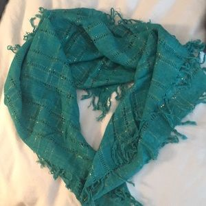 Vintage teal scarf